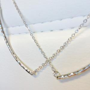 Double Smile Bar Necklace